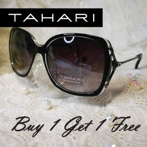 TAHARI Oversize Fashion Retro Bling Sunglasses